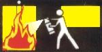 Ante un principio de incendio, tratar de sofocarlo con el extintor adecuado...