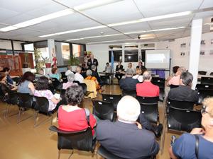 La charla se realizó en el 5º piso de la sede comunal.