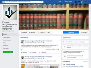 """El Foro de Abogados cambió la categoría de su página en Facebook de """"Empresa Jurídica"""" a """"Organización""""."""