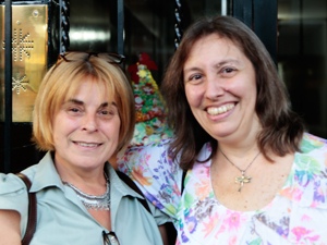 Izq.: la Cra. Cynthia Rosio junto a Lic. Julia Massa.