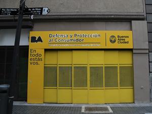 Sede de la Dirección General de Defensa y Protección al Consumidor porteño.