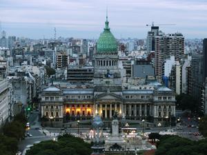 Vista del Congreso de la Nación desde el Palacio Barolo.