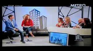 Vilma Bouza entrevistada por temas relacionados con el Registro Público de Administradores porteño.