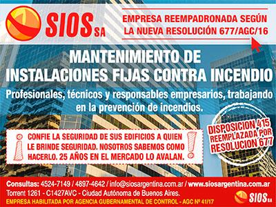 SIOS SA / Mantenimiento de Instalaciones Fijas contra Incendio.