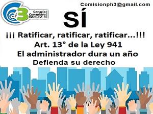 Volante difundido por la Comisión de Consorcios de la Comuna 3 en las redes sociales.