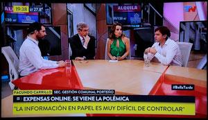 El 6 de diciembre, Lisandro Cingolani y Facundo Carrillo son entrevistados por Nelson Castro y Paula García en TN.