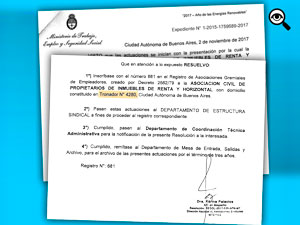 """""""Foto"""" en la que figura que la sede de APH está en la calle Tronador 4280 de la Ciudad de Buenos Aires."""