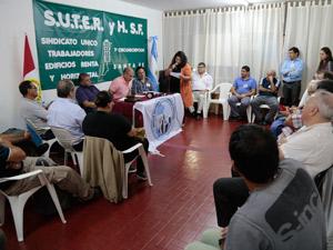 La presentación se realizó en la sede del Sindicato Único de Trabajadores de Edificios Renta y Horizontal Santa Fe, 1ª Circunscripción.