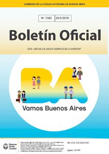 Carátula del Boletín Oficial de la CABA.