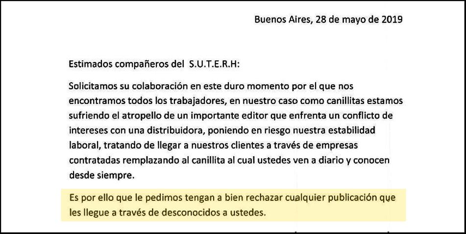 """Claudio García de Rivas: """"Es una medida peligrosa: enfrenta al trabajador con los consorcistas, lo pone en riesgo ante la ley, perjudica la diversidad informativa y no ayuda a la causa de los canillitas""""."""