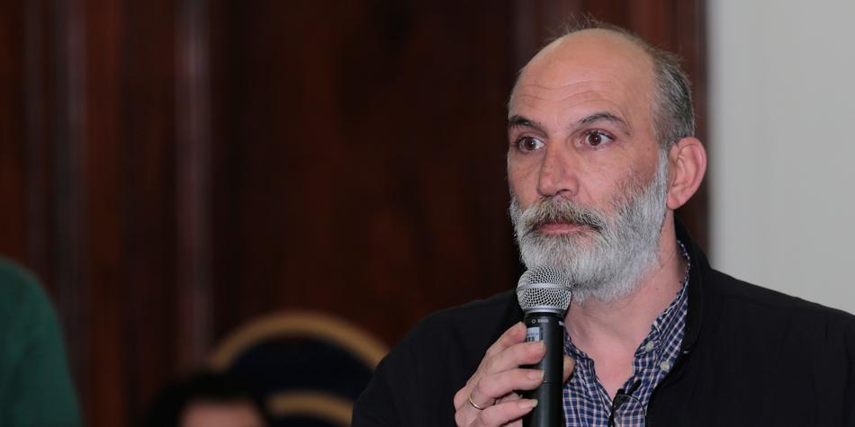 Andres Zulberti, coordinador de la Comisión de Consorcios de la Comuna 3 [Foto archivo de Pequeñas Noticias].