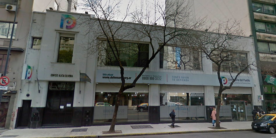 Sede central de la Defensoría del Pueblo de la CABA en la Av. Belgrano 672.