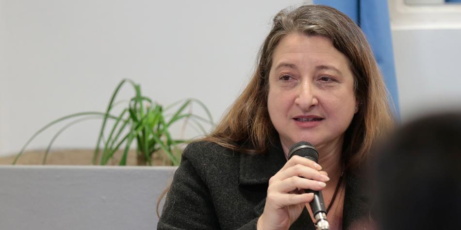 María Rosa Muiños del Bloque Peronista [Foto archivo de Pequeñas Noticias].