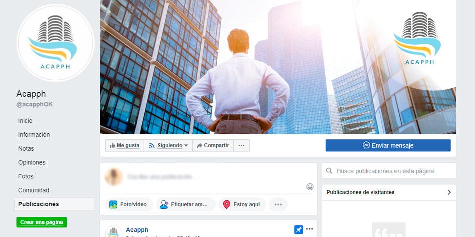 Página Facebook de la nueva entidad de administradores.