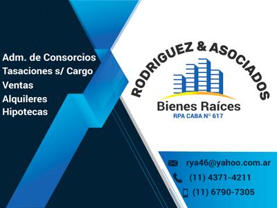 Rodriguez y Asociados, Bienes Raícesy administración de consorcios