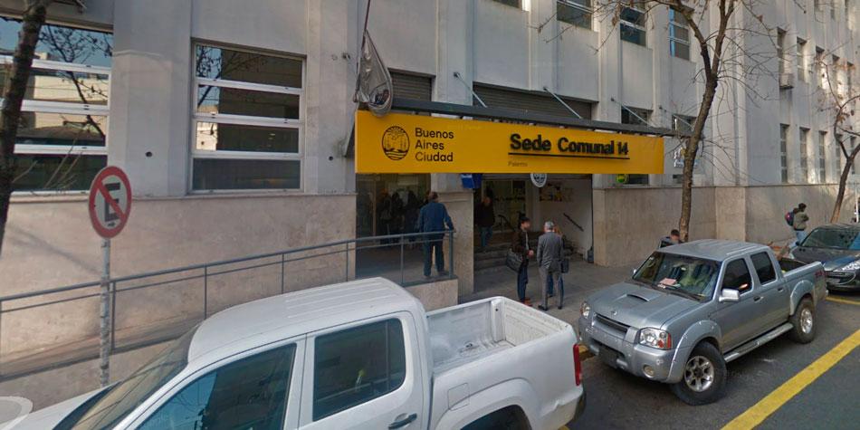 Sede de la Comuna 14 en Beruti 3325 de esta ciudad.
