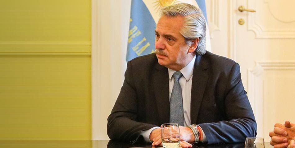 Alberto Fernández, presidente de la Nación [sobre foto de Casa Rosada].