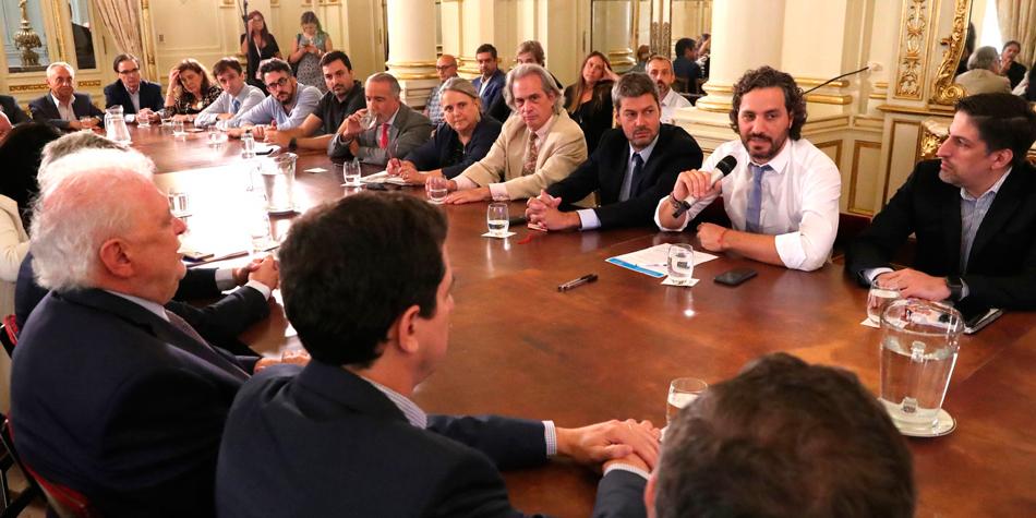Reunión interministerial para la contención del Coronavirus del 6 de marzo [foto Casa Rosada].