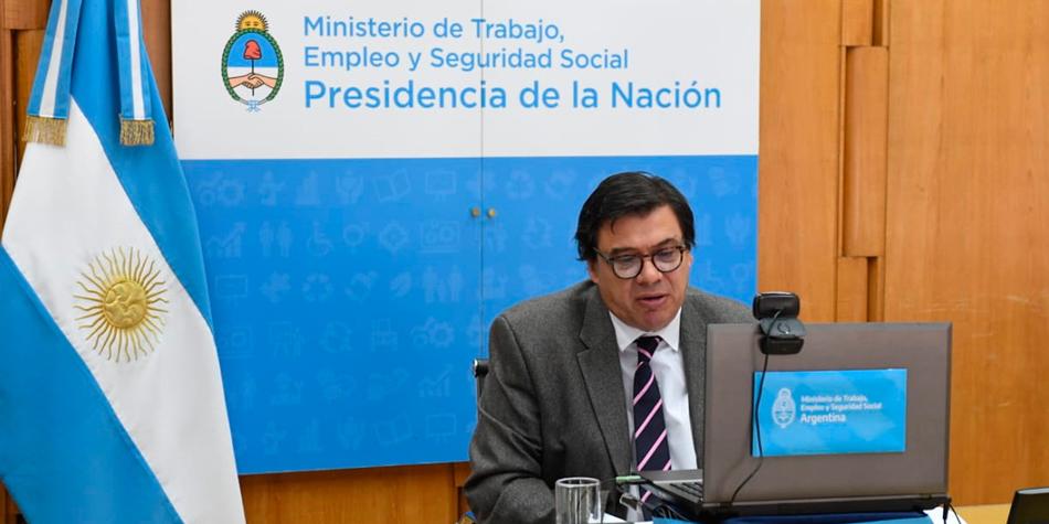 Claudio Moroni, ministro de Trabajo, Empleo y Seguridad Social.