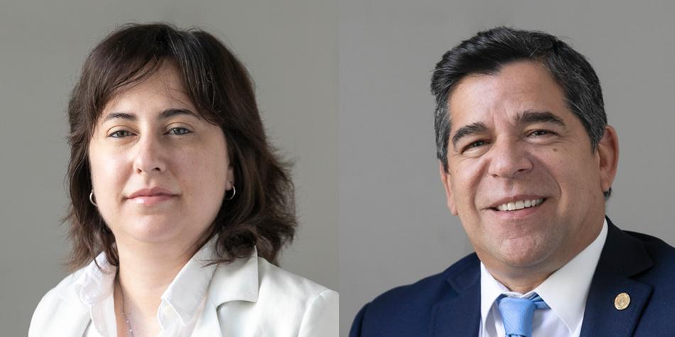 Los legisladores porteños Lucía Romano y Claudio Ariel Romero de Vamos Juntos [Foto: Legislatura porteña]
