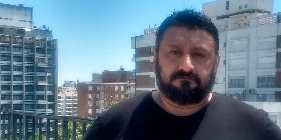 Jorge Cabrera, secretario de Prensa y Difusión del Frente Nacional de Trabajadores de Edificios.
