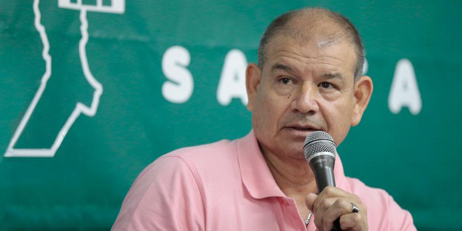 Gabriel Irala, presidente del Frente Nacional de Trabajadores de Edificios [Foto archivo de Pequeñas Noticias]