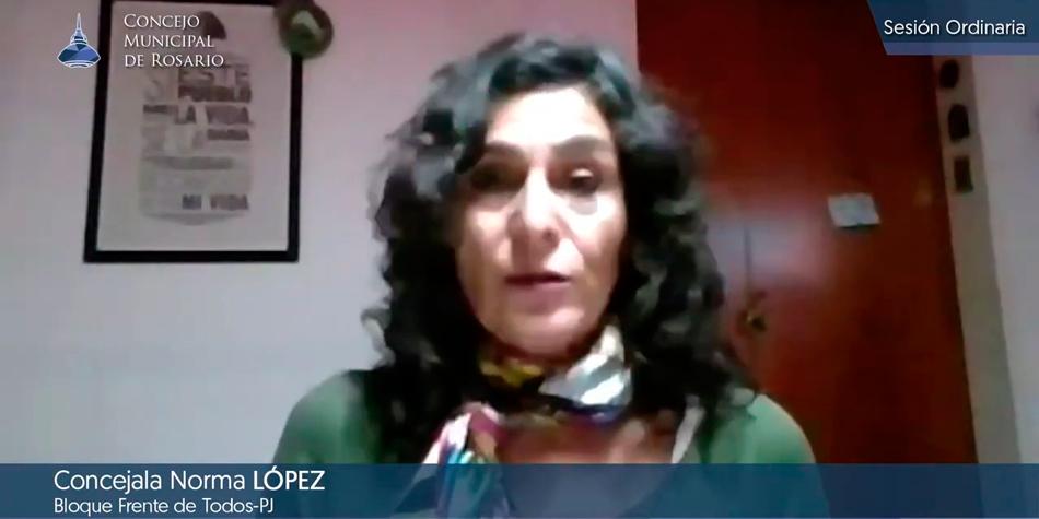 Norma López, concejal del Frente de Todos/Partido Justicialista.