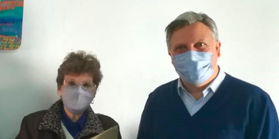 Ana María Huertas y Fernando Rizzi el pasado 18 de mayo [Foto Defensoría del Pueblo].