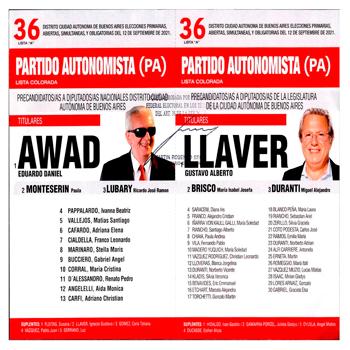 Lista Partido Autonomista (PA) [Foto Justicia Electoral]