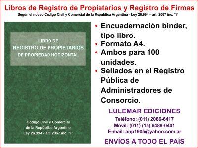 Libro de Registro de Propietarios y Registro de Firmas.