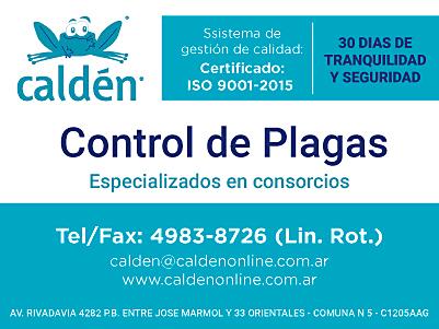 Caldén: Control de plagas.