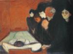"""""""Junto al lecho"""" del pintor noruego Edvard Munch (1863-1944)"""