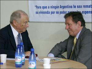 El Dr. Marcos Bergenfeld con el presidente de la CAPHyAI, Lic. Horacio Bielli