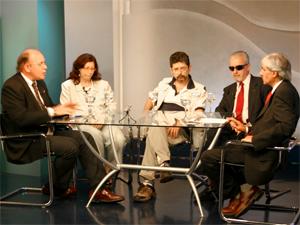 """El Dr. Eduardo Awad en el programa de TV por cable """"Reflexiones Nacionales""""."""