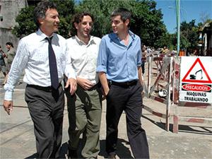 Mauricio Macri durante el acto de lanzamiento del plan de bacheo que se realizó en Manuela Pedraza al 6100 del barrio de Villa Urquiza.