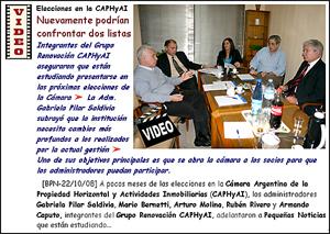 Seis días antes del 16 de diciembre se sabrá si el Grupo Renovación se presentará a las elecciones de la CAPHyAI como lista alternativa.