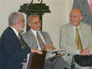 De izq. a der.: Roberto C. Fregonessi, Santiago A. Pontoriero y Leopoldo Gurovich.