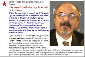 La propuesta del Dr. Osvaldo Loisi despertó gran interés en la Unión de Medios de Propiedad Horizontal.
