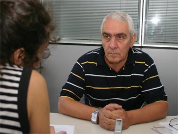 Osvaldo Bacigalupo, Secretario Gremial del SUTERH.