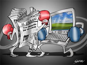 La mayoría de los norteamericanos se informan por televisión, luego por Internet y en tercer lugar mediante la prensa gráfica tradicional.