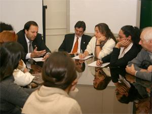 Reunión de parte de los integrante de la nueva  Comisión de Consorcios de la UBA presidida por Jorge Scampini.