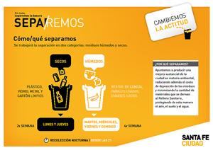 La recolección diferenciada de residuos es una de las medidas pertenecientes al programa Cambio Verde.