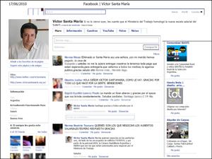 """Acompañan a Víctor Santa María en su sitio de Facebook 4.319 """"seguidores""""."""