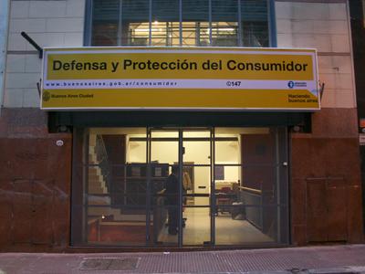 Sede de la dirección general de Defensa y Protección del Consumidor de la CABA en Moreno 1.170 de esta ciudad.