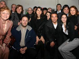 """Parte de los integrantes de la lista Naranja en el """"Club Dorado""""."""
