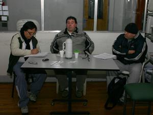 De izq. a der.: Jorge Miño (20 de Diciembre), Sergio Gonzáles (Encargados Unidos) y Félix Herrera (20 de Diciembre).