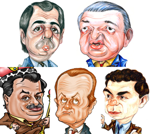 De arriba a abajo y de izq. a der.: Adrian Hilarza (AIPH), Jorge Hernández (FRA), Daniel Tocco (CAPHyAI), Osvado Primavesi (UADI) y Juan Manuel Acosta y Lara (AIERH).