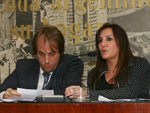 Juan Manuel Gallo y Gabriela Saldivia.