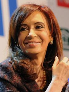 Cristina Fernández de Kirtchner, presidenta de la Nación Argentina.