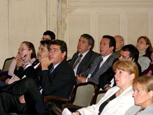 Parte de los representantes de las entidades convocantes.
